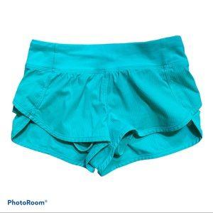 Kids Ivivva Mint Green Speed Shorts Size 6